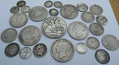 Sterling Silver Coin collection - pre 1920 - mostly Victoria some early milled