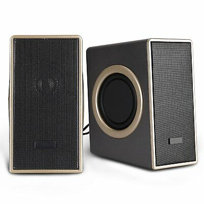 USB Powered Computer Speakers 3.5 Multimedia PC Laptop Desktop System Subwoofer