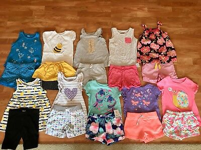 Girls Summer Clothes Size 4T/4 Great Outfits! EUC! Lot Of 24 Pieces