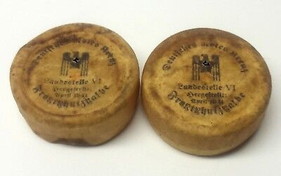 Original WW2 German Drk German Red Cross Helferin Nurse Lot of 2 Frostbite Salve