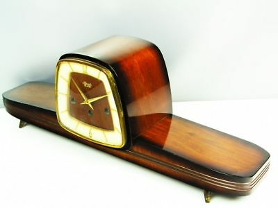 Pure Art Deco Westminster Chiming Mantel Clock From  Hermle Germany