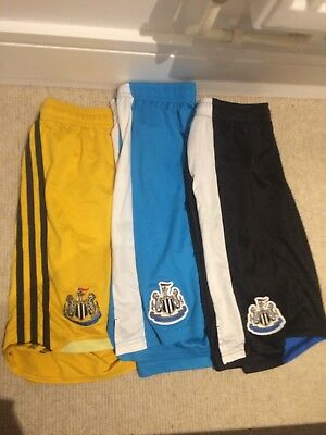 3 Newcastle United Nufc Football Shorts Size L