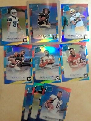 2017 Donruss Optic Rated Rookie -RED/Yellow U-Pick Complete Your Set