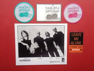 GARBAGE,Promo Photo 4 different Backstage passes,Very RARE Originals,