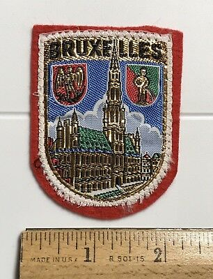 BRUXELLES Brussels Belgium Cathedral Souvenir Woven Felt Patch Badge