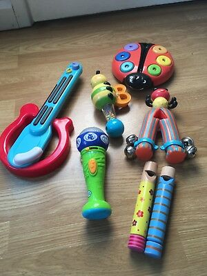 Leapfrog Microphone, Early Learning Centre guitar plus baby musical instruments