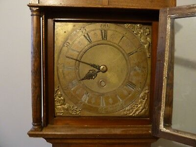 Early Powley Of Appleby C1750 Brass Engraved Dial Longcase Grandfather Clock