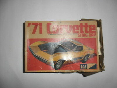 "Vintage Original Mpc '71 1971 Corvette Sting Ray 3 In 1 Kit "" Shanghi"""