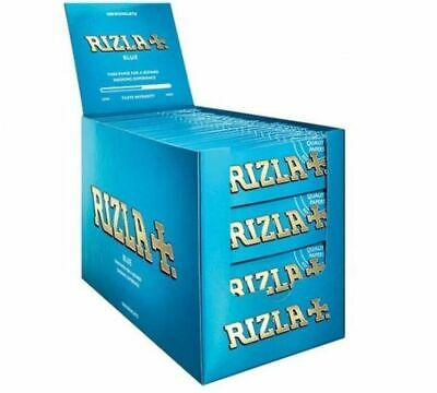 Rizla Blue Standard Cigarette Thin Rolling Papers - 1 5 30 100 Booklets (BOX)