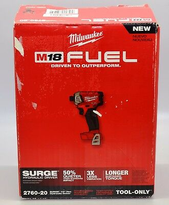 """Milwaukee M18 FUEL SURGE 1/4"""" Hex Hydraulic Driver 2760-20 New Open Box"""