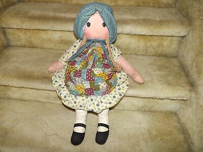 "Vintage 1970's Holly Hobbie Knickerbocker 24"" Doll Original"