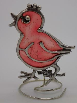 Vintage Sterling Silver 925 Italian Made Bird Miniature, Figurine, Stamped