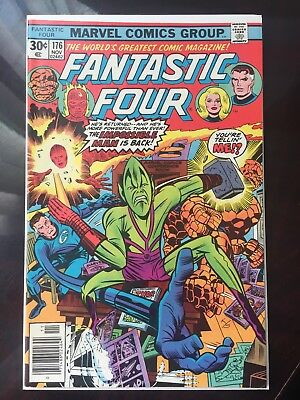 Fantastic Four 176 Reed Richards Human Torch Thing Marvel High Grade