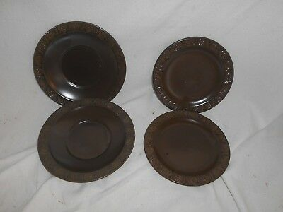 Set of 4 x CROWN DUCAL Ceramic PLATES and DISHES Pattern CONCORDE 20cms VINTAGE