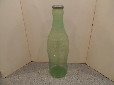 Vintage Large Coca Cola Bottle Advertising Plastic Bank