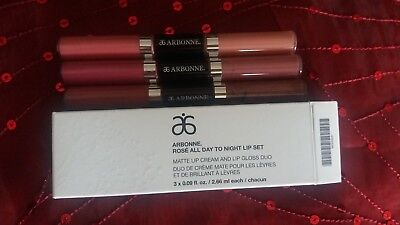 🎄ARBONNE XMAS 2017 - Rosè All Day To Night Lip Set SRP £68🎄*🌟* £60 OFF *🌟*
