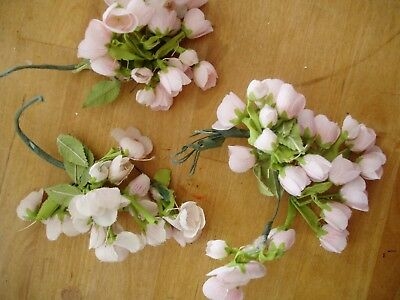 LOT of SWEET *VINTAGE* millinery hat flowers parts 3 blossom flower posies