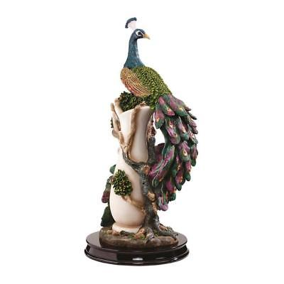 European Elegance Palace Peacock On the Wase 17'  Garden Statue