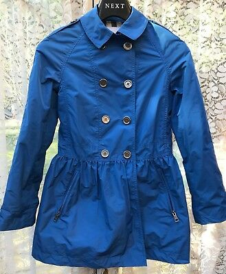 Burberry girls weather resistant trench coat blue - Age 12 / 152 cm