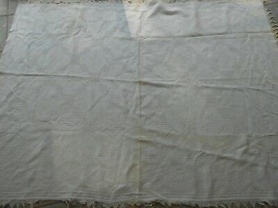 Antique MARCELLA BEDSPREAD Coverlet Bed Cotton Cover crafts repurpose vtg