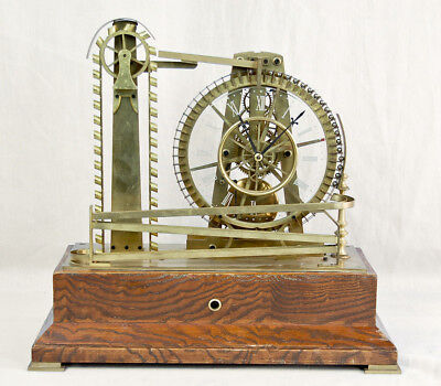 Industrial animated water wheel rolling ball bearing clock @ 1990s great! Wow!