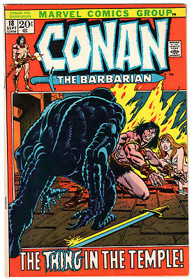 Conan the Barbarian #18, Marvel, Roy Thomas, Gil Kane, Thing in the Temple