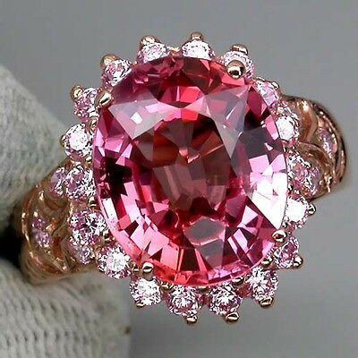 _LDN_ Bague Saphirs Padparadscha 12.4X10mm_Argent 925 + plaque or 14ct _T 54