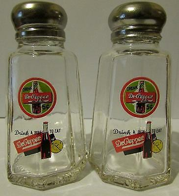 Charming Set of 2 Dr. Pepper Salt and Pepper Shakers
