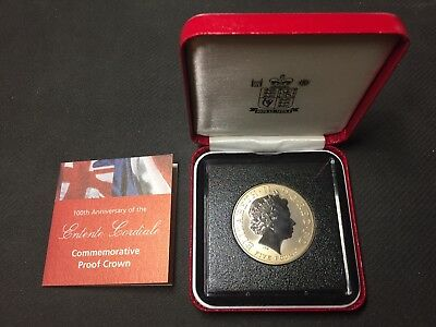 2004 Royal Mint 100th Anniversary Entente Cordiale Commemorative Proof Crown