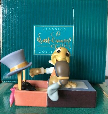 Wdcc Pinocchio Jiminy Cricket Let Your Conscience Be Your Guide Disney Sculpture