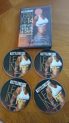 kettlecise LEAN IN 14 ...4 DVDS 6 times 30 minutes IN ONE CASE