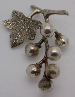 Vintage Solid Silver Italian Made Grapes Miniature, Figurine, Stamped