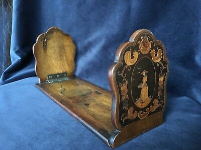 Late Victorian Sorrento Ware Marquetry Inlaid Book Slide Desk Top Book Stand
