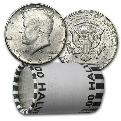 90% Silver Kennedy Half Dollars - $10 Face Value Roll-Average Circulated