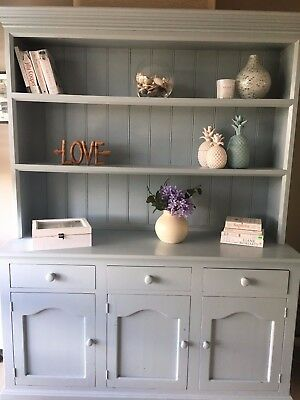 French Provincial Hamptons sideboard buffet and hutch cupboard