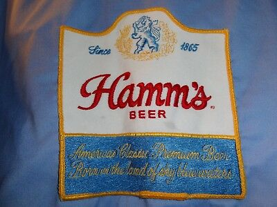 Hamm's Beer 60's Delivery Driver Shirt With Large And Small Patches Long Sleeve