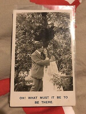 Early Bamforth Black And White Postcard. Oh! What It Must Be To Be There.