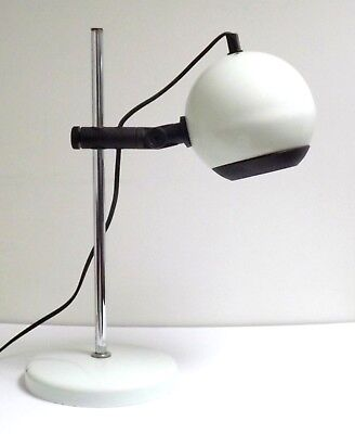 Original Retro Vintage 1960s 70s Space Age Adjustable Eye Ball Table Lamp