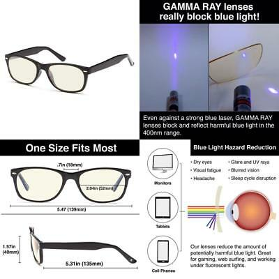 40c58a96c8 Gamma Ray Computer Gaming Reading Amber Tinted Glasses Anti Blue Light Glare