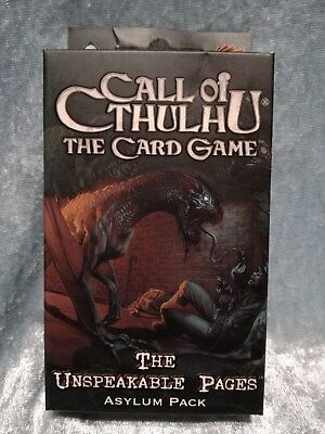 Call of Cthulhu Kartenspiel: The Unspeakable Pages, Asylum Pack, Card Game, rar