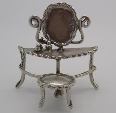 Vintage Solid Silver Italian Made Dressing Table Miniature, Figurine, Stamped