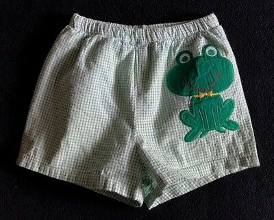 The Bailey Boys Boys Size 18 Months Green Gingham Swim Trunks