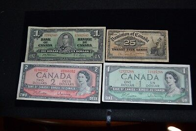 World paper currency, Canada; 1900, 1937, 1954(2)