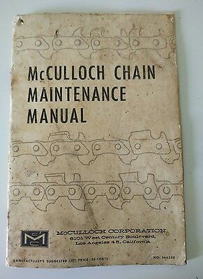 McCulloch Chain Maintenance Manual