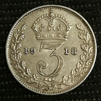 George V sterling silver threepence. 3d. Great as a golf ball marker.