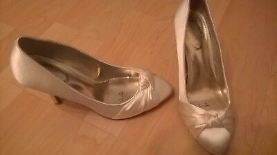 WOMENS BRIDAL SHOES - debenhams debut shoes in size 6