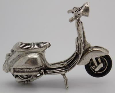 Vintage Solid Silver Italian Made Iconic Vespa Miniature, Figurine, Stamped