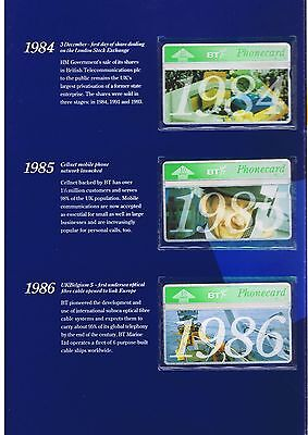 BT 1994 10 Years on set of 11 mint in folder BT1089-99. 3,282 issued.