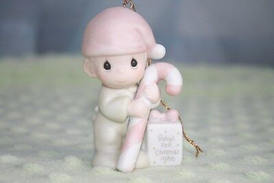 Precious Moments Ornament Baby's First Christmas 1986 Boy