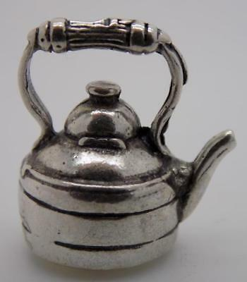 Vintage Solid Silver Italian Made Dollhouse Teapot Miniature, Figurine, Stamped*